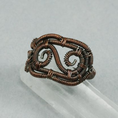 Coiled Copper Spirals Ring