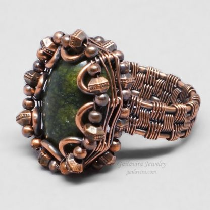 Copper wire wrapped Russian Serpentine ring