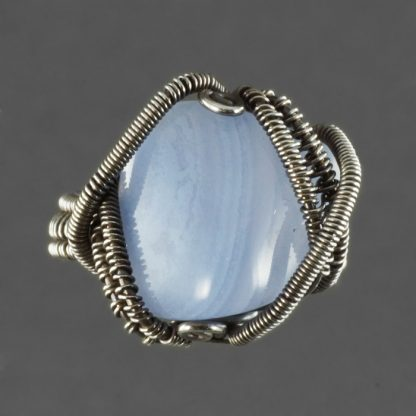 Sterling Silver and Blue Lace Agate Ring